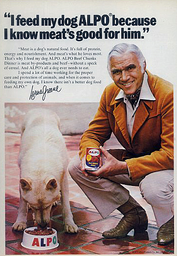 Lorne Greene advertising Alpo dog food